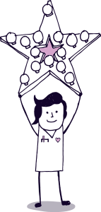 Male Nurse with star